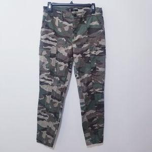J.Crew Cargo Toothpick Camoflauge Military Pants